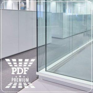 Divisória em vidro acústico