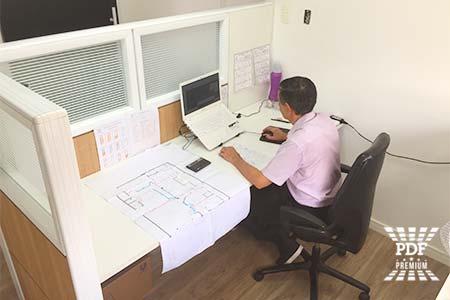 projetos de divisória industrial para escritório