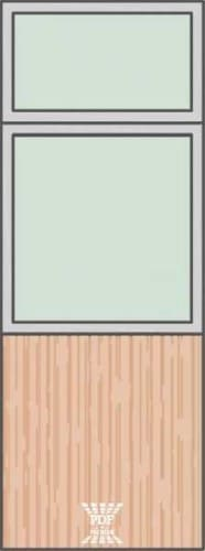 modelo divisória piso teto alumínio com vidro paginada 2 madeira mdf