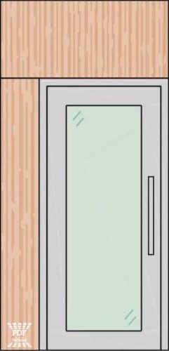 porta piso teto alumínio com vidro painel lateral madeira mdf bandeira madeira mdf