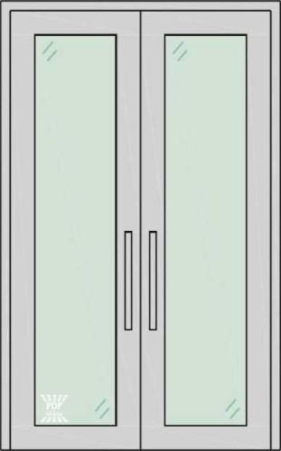 porta piso teto folha dupla alumínio com vidro