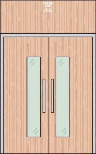 porta piso teto folha dupla madeira mdf com visor bandeira mdf