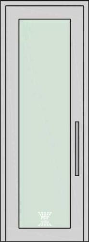 porta piso teto vidro com alumínio
