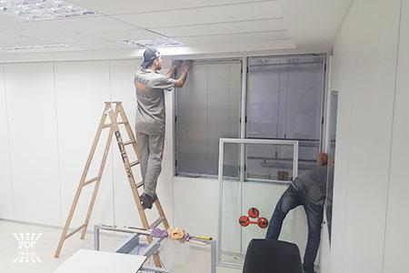 serviços de montagem de divisórias piso teto