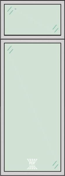 modelo divisória de vidro paginada em 2 são paulo