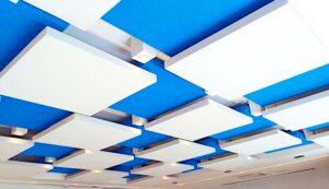 montar sala de reunião com forro de teto acústico
